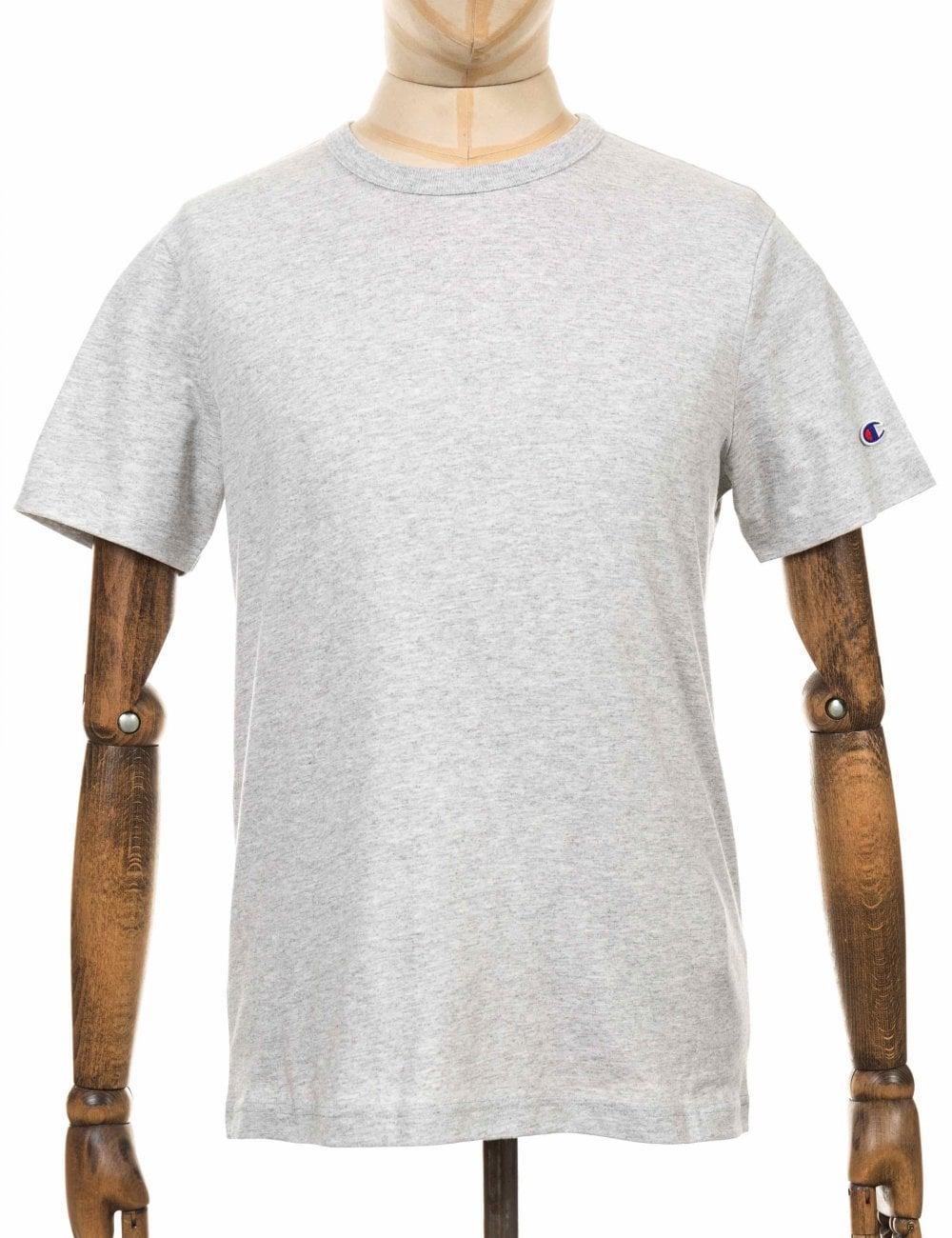 0154ea6dc Champion Reverse Weave Crewneck Tee - LOXGM Light Grey - Clothing ...