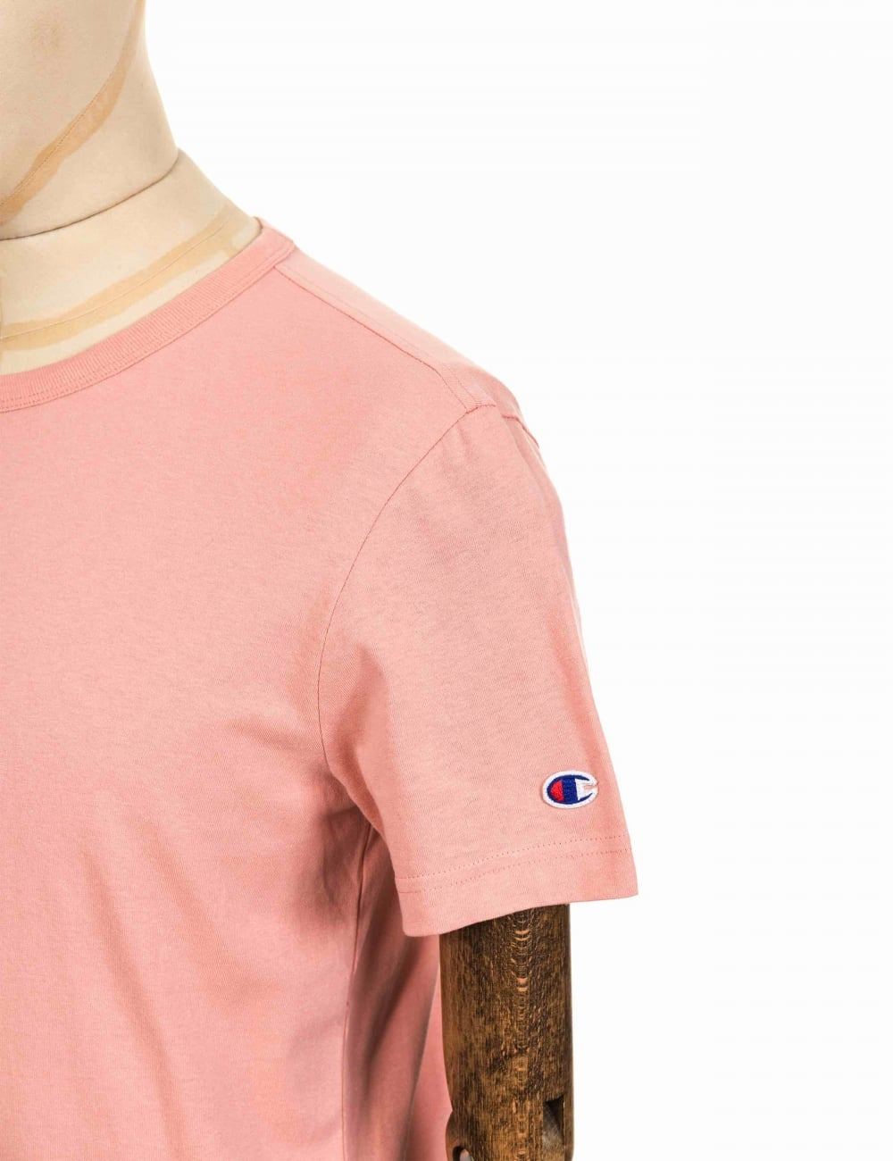 3ecee70b Champion Reverse Weave Crewneck Tee - RTN Pink - Clothing from Fat ...