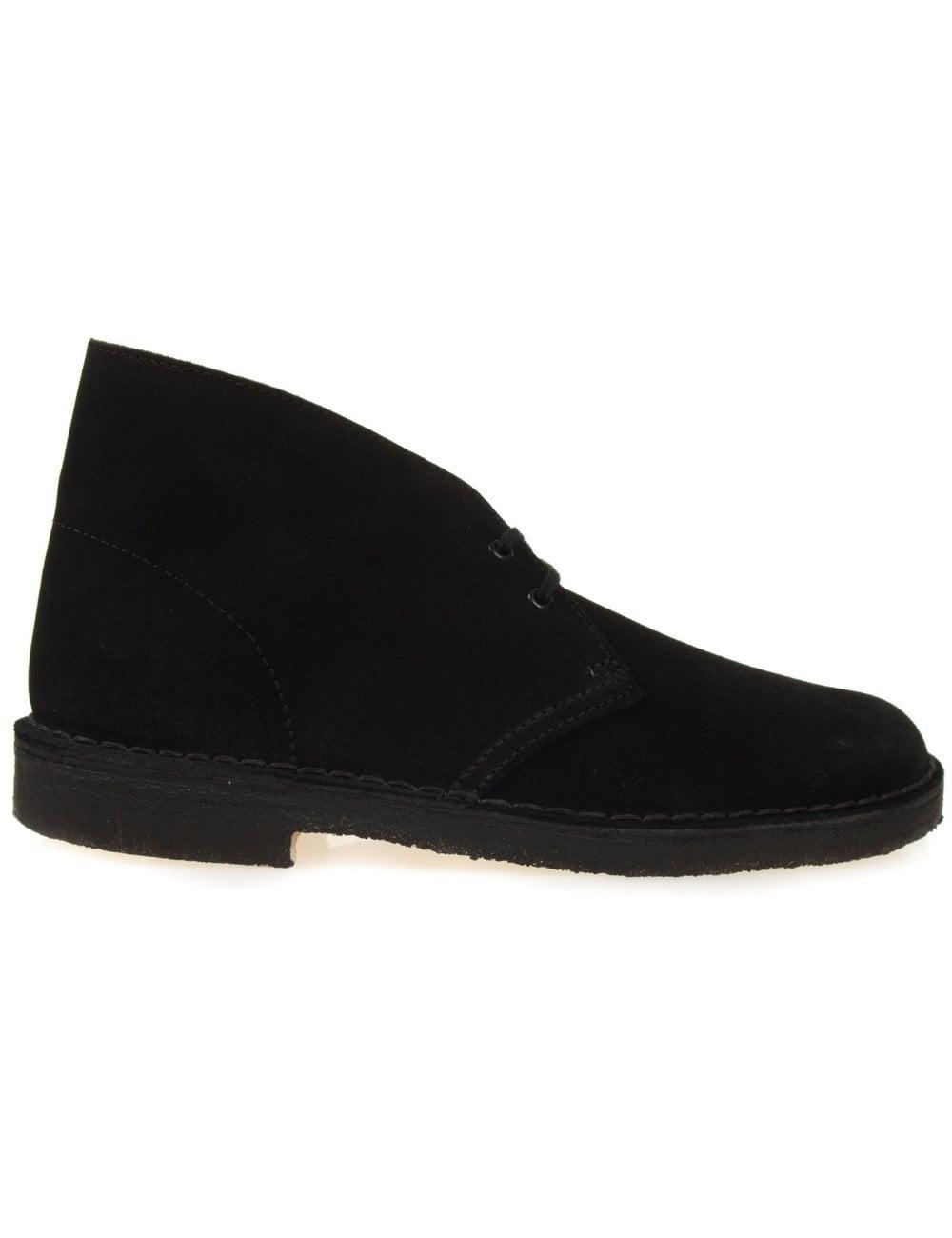 eb0f0b3b8 Clarks Originals Desert Boot - Black Suede - Footwear from Fat ...