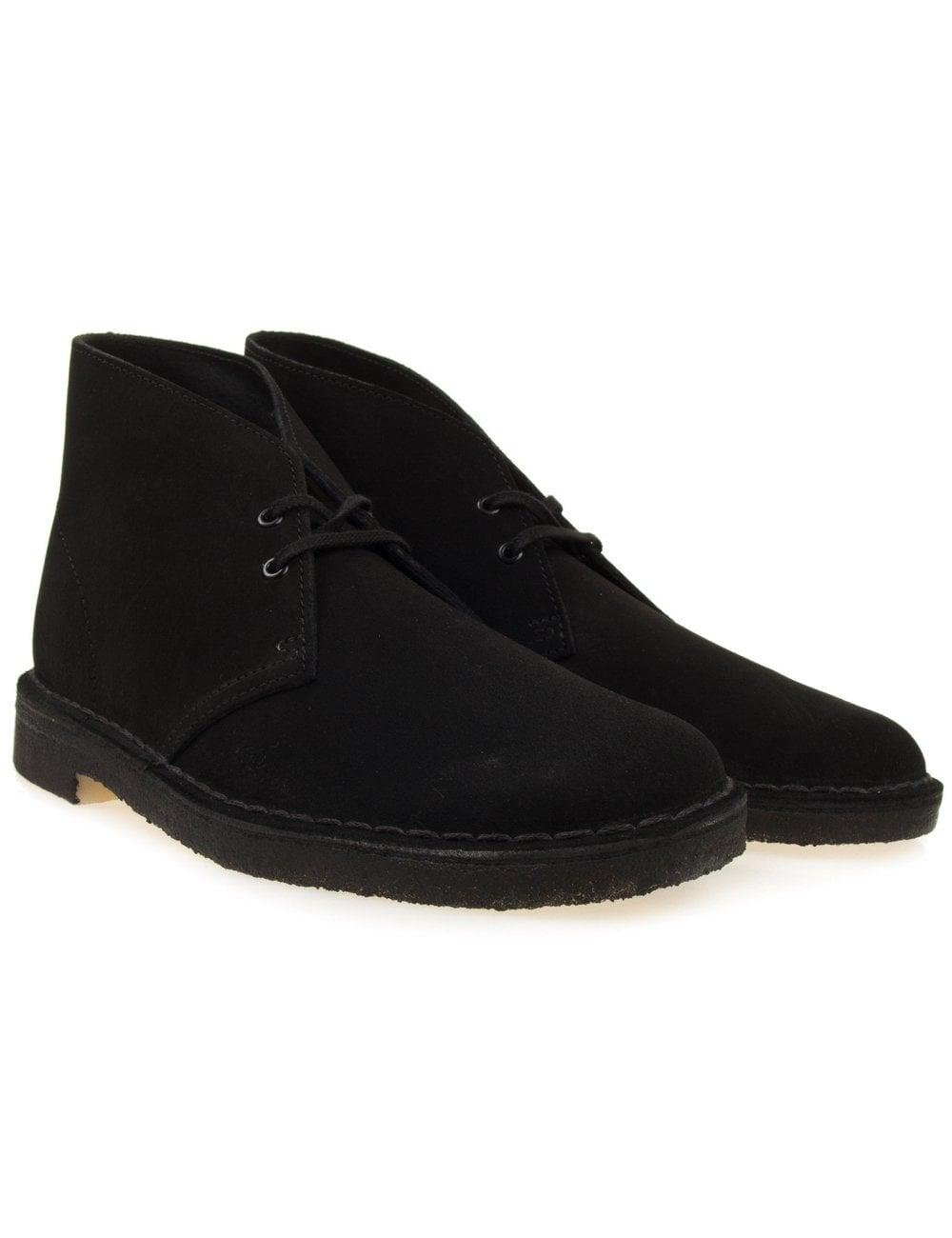 b46ee6e84bcd3 Clarks Originals Desert Boot - Black Suede - Footwear from Fat ...