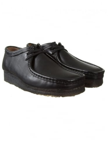 Clarks Originals Wallabee Shoes - Black Leather