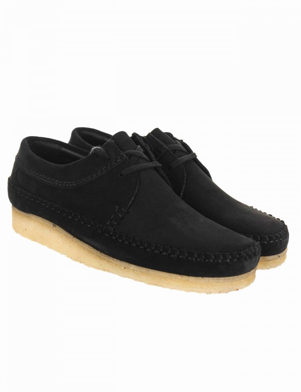 cba534cf9ff Clarks Originals Weaver Shoe - Black Suede - Footwear from Fat ...