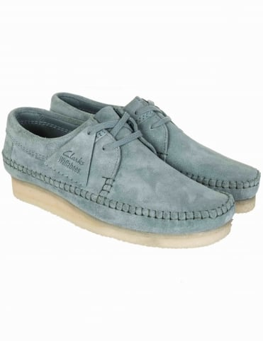 Weaver Shoes - Blue/Grey Suede