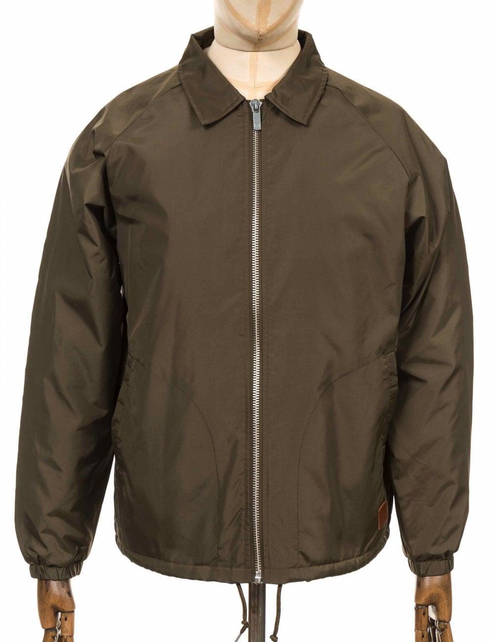 Brixton Claxton Sherpa Jacket - Olive - Clothing from Fat Buddha Store UK 12299dd0f1f