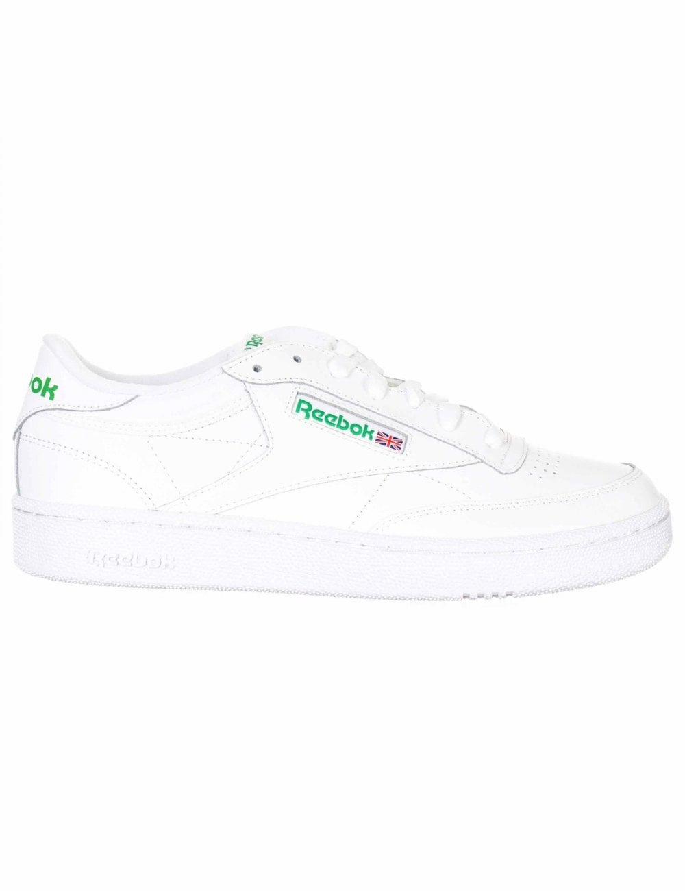30a2193b934d7 Reebok Club C 85 Shoes - White Green - Footwear from Fat Buddha Store UK