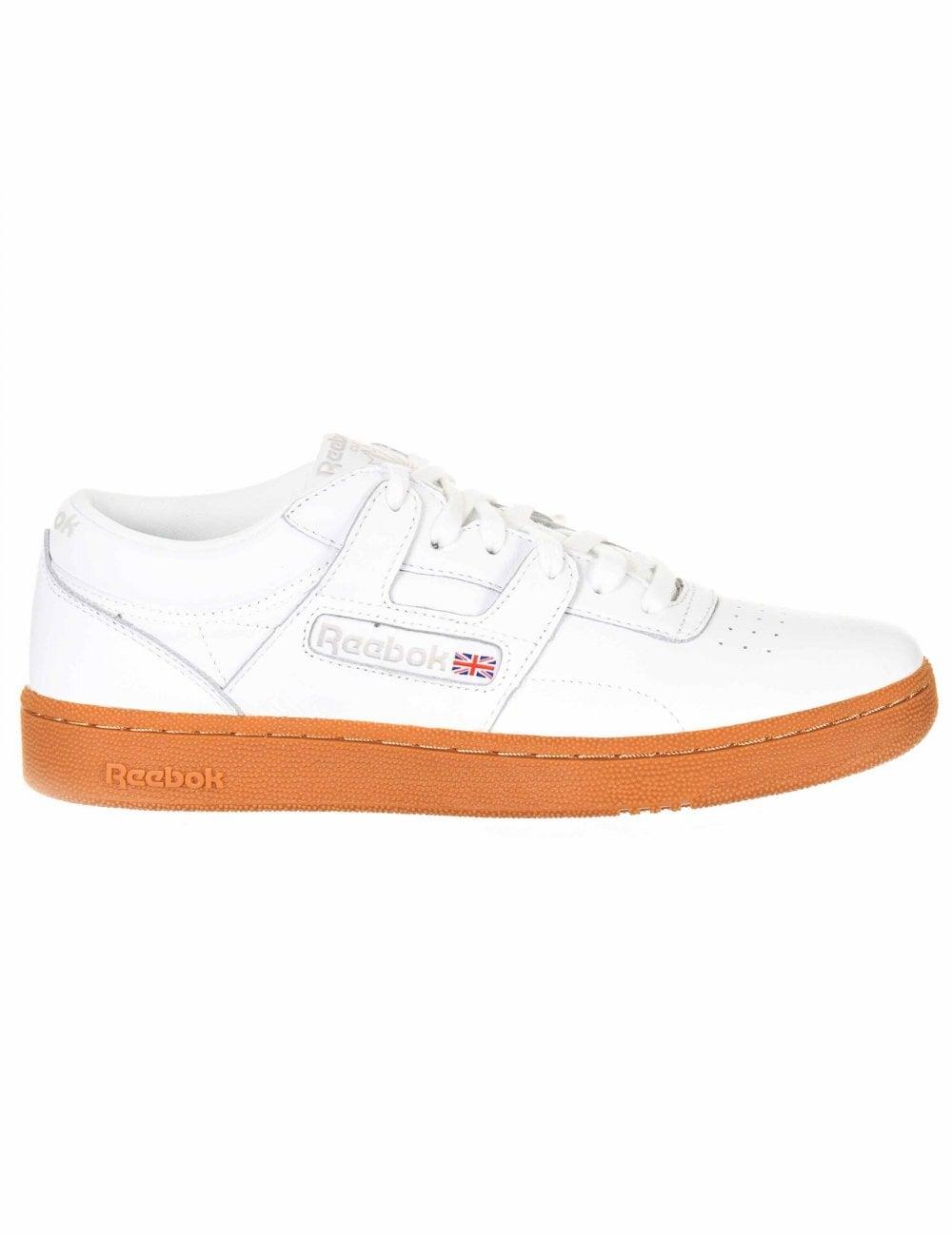 White//Skull Grey Reebok Club Workout MU Shoes