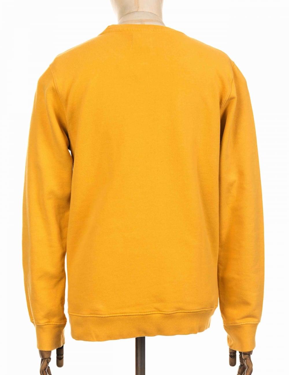 5206948a Colorful Standard Organic Cotton Sweatshirt - Burned Yellow ...