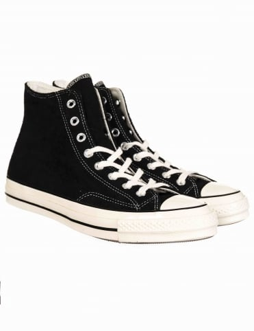 1970s Chuck Taylor All Star Hi - Black/Egret/Egret