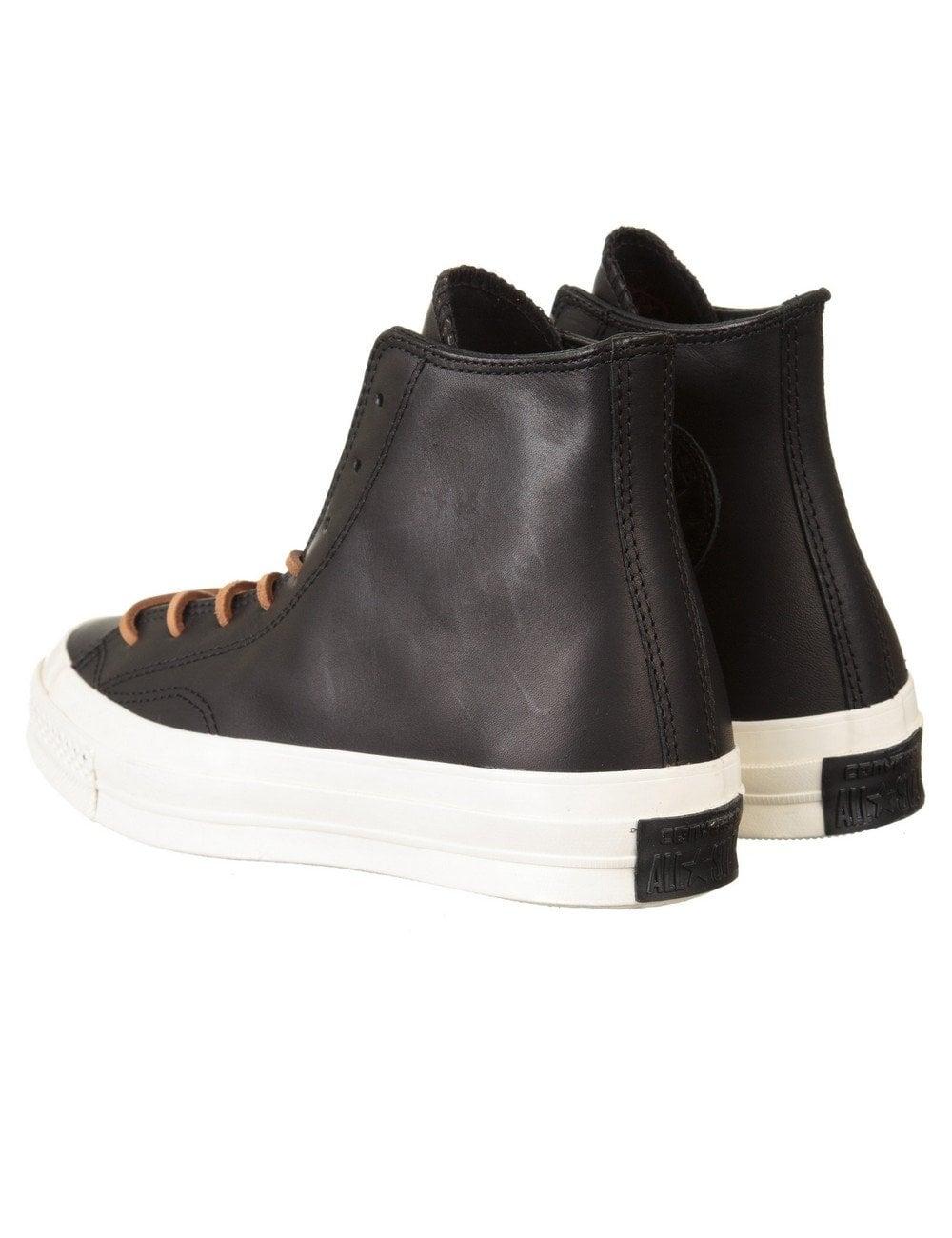 8551255213dc Converse Chuck Taylor 70s Hi Leather Boots - Black Egret - Footwear ...