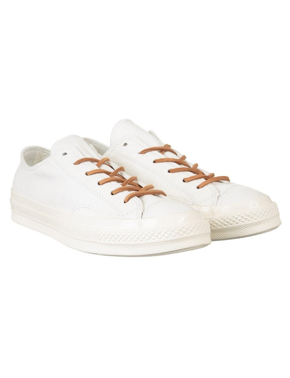 Chuck Taylor 70s Ox Leather Shoes - Egret/Tan