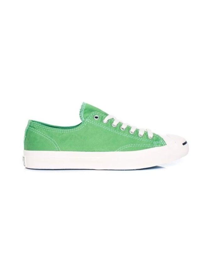 Converse Jack Purcell LTT Garment Dye Ox - Green - Footwear from Fat ... 7c8229311351