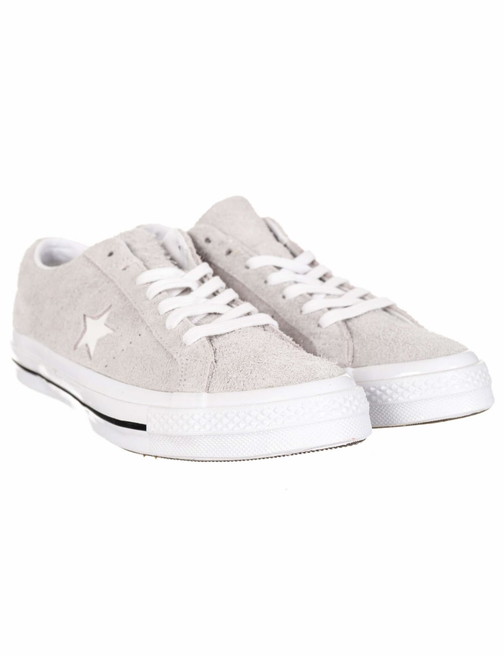2357c1e6f41 Converse One Star Ox Premium Suede Trainers - Ash Grey White ...