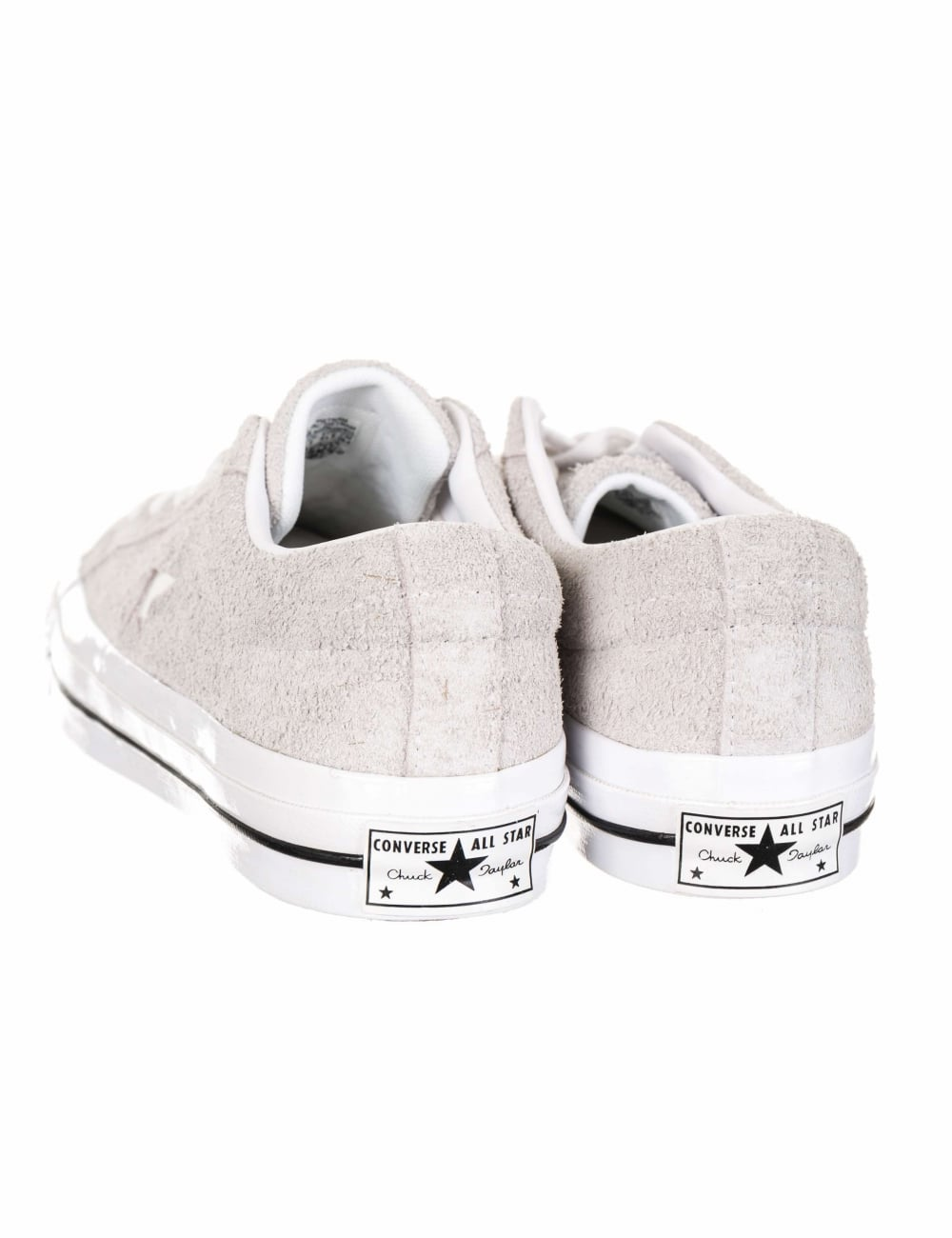 Converse One Star Ox Premium Suede Trainers - Ash Grey White ... 085ba913f2