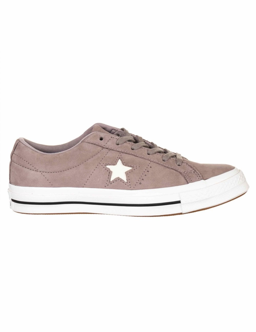 624d72250ed Converse One Star Ox Trainers - Mercury Grey Vintage White ...
