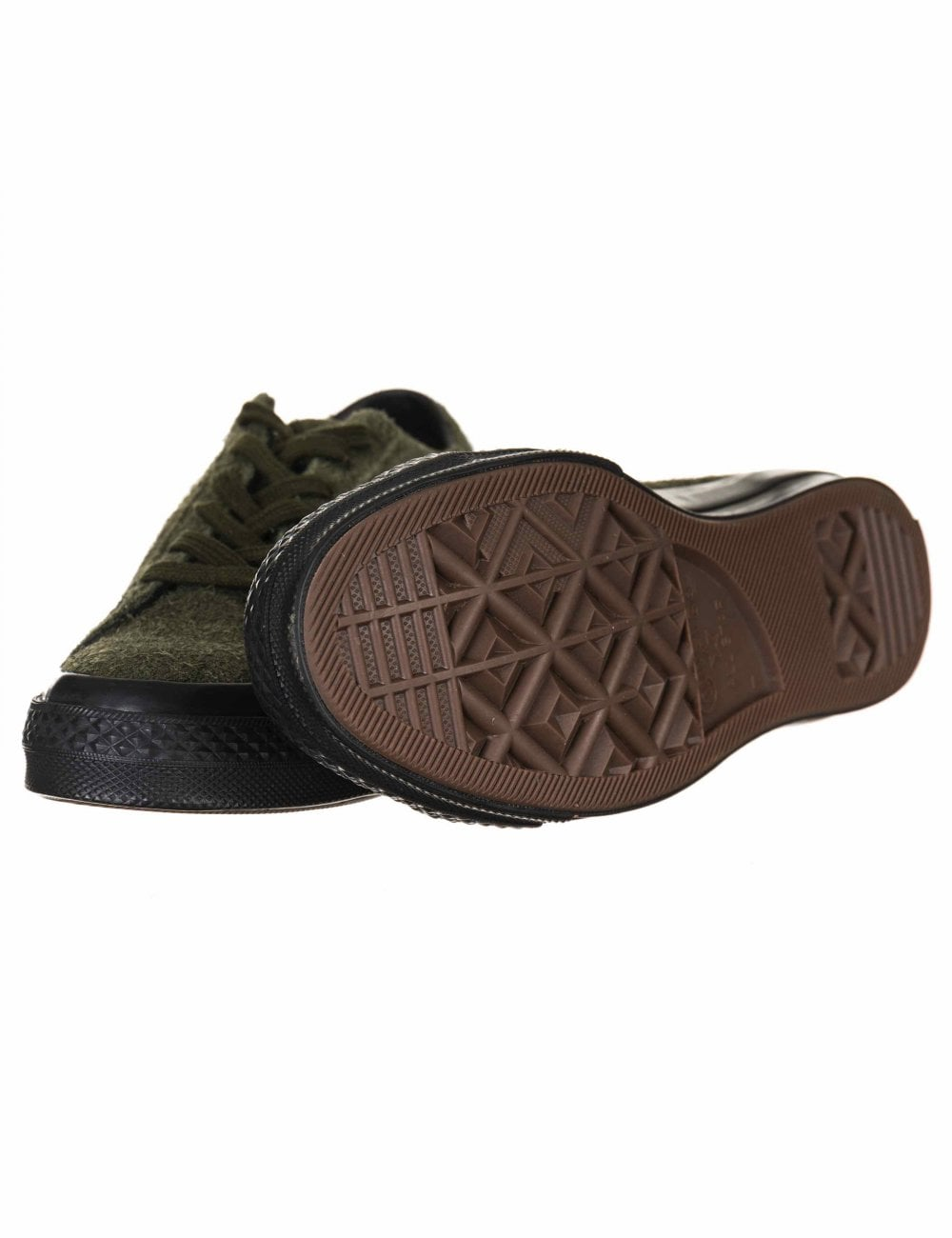 Converse One Star Ox Trainers - Utility Green - Footwear from Fat ... fe573f7e0