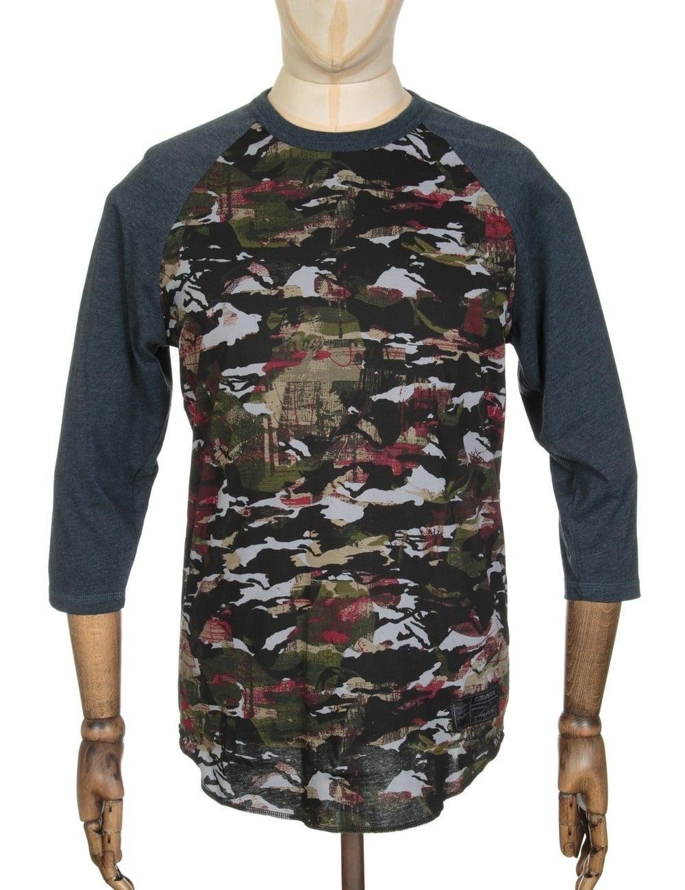 0dc8b95b87c4ea Converse x Futura 1 Raglan Placeholder T-shirt - Black Camo ...