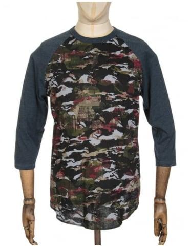 Converse x Futura 1 Raglan Placeholder T-shirt - Black Camo