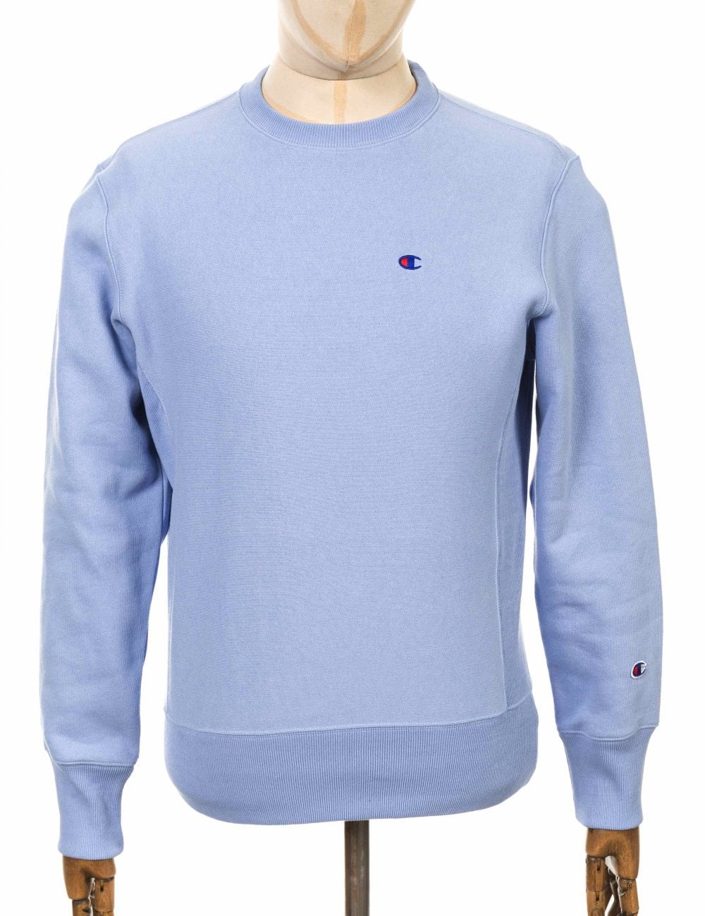 eb68cfbde5f5 Champion Reverse Weave Crewneck Sweatshirt - LLU Light Blue - Clothing from  Fat Buddha Store UK