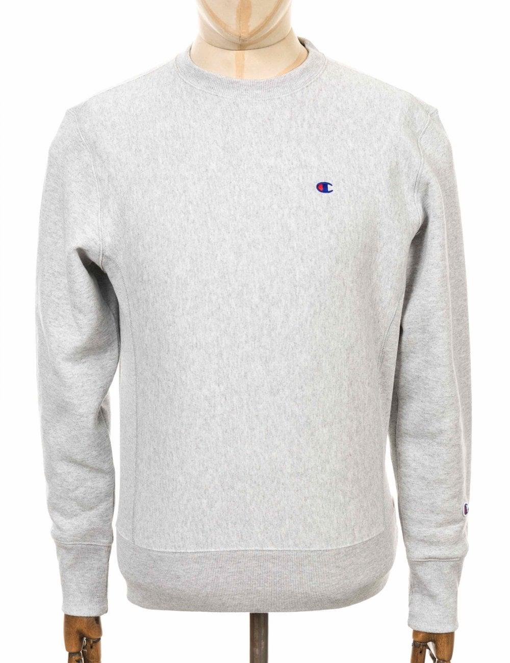 ea346b4d Champion Reverse Weave Crewneck Sweatshirt - LOXGM Light Grey - Clothing  from Fat Buddha Store UK