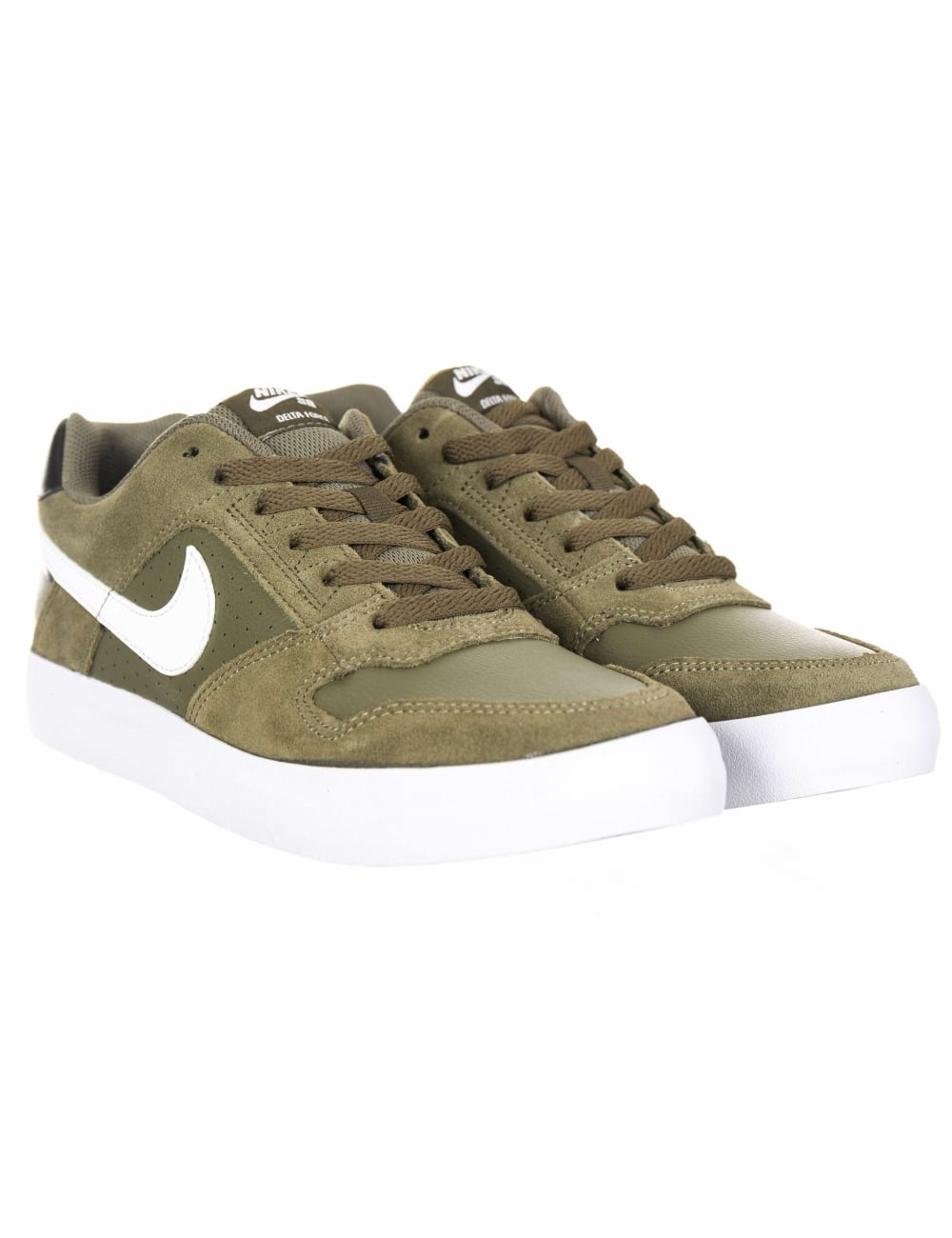 8c8372dea3750 Nike SB Delta Force Vulc Trainers - Olive/White - Footwear from Fat ...
