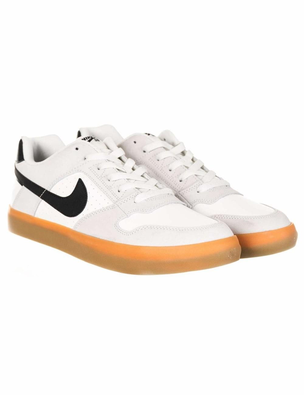 profundo Tutor impulso  Nike SB Delta Force Vulc Trainers - White/Black/Gum - Footwear from Fat  Buddha Store UK