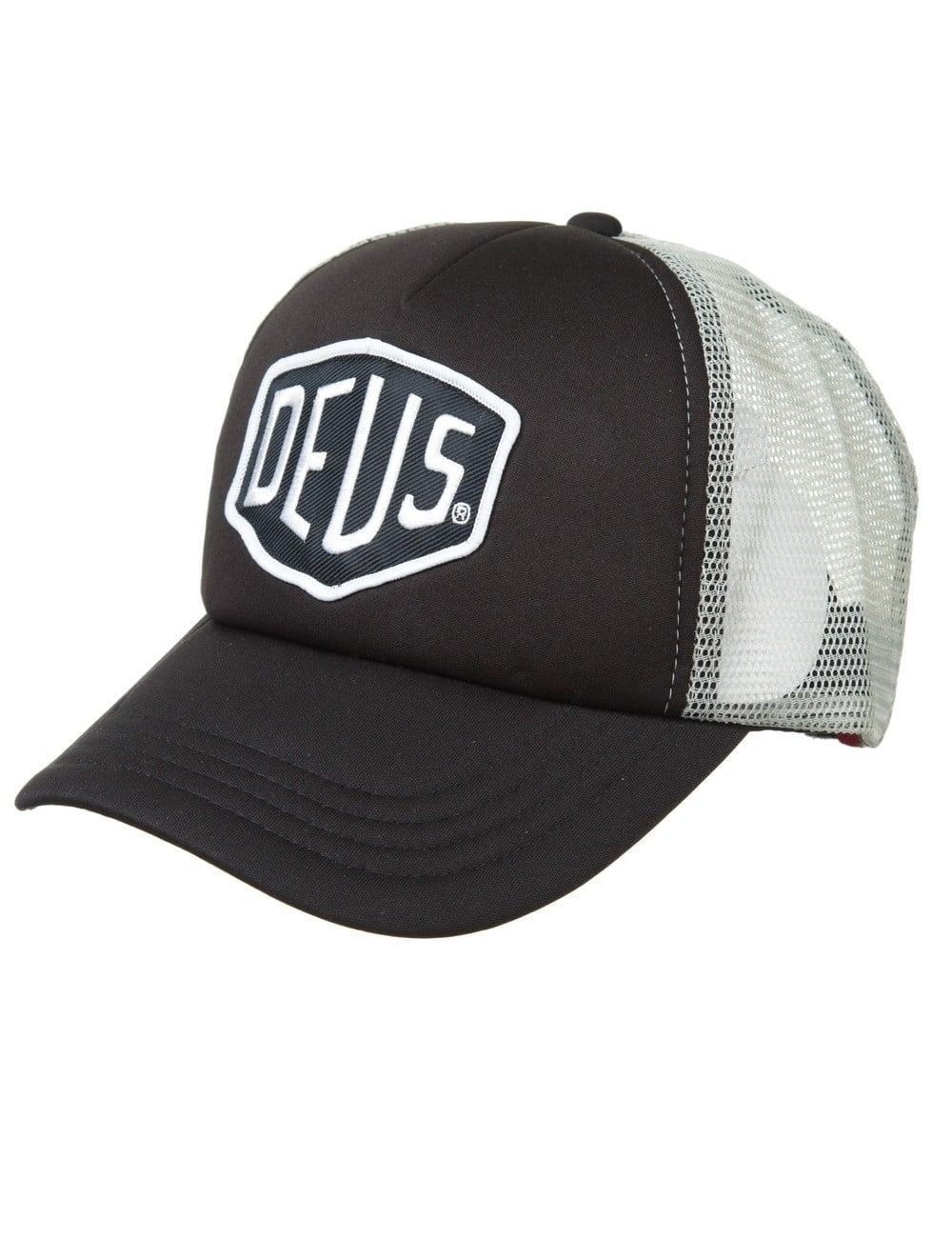 Deus Ex Machina Baylands Trucker Hat - Black Grey - Hat Shop from ... 268927ad1f6
