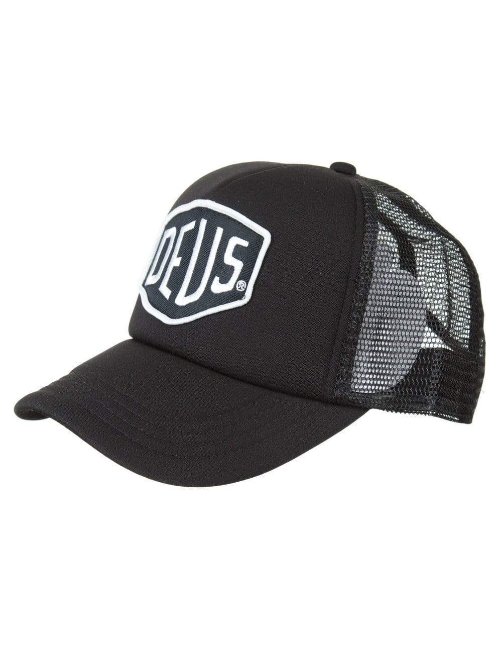 0fcc1d2a47b37 Deus Ex Machina Baylands Trucker Hat - Black White - Hat Shop from ...