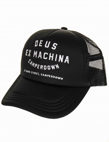 Deus Ex Machina Camperdown Address Trucker Hat - Black