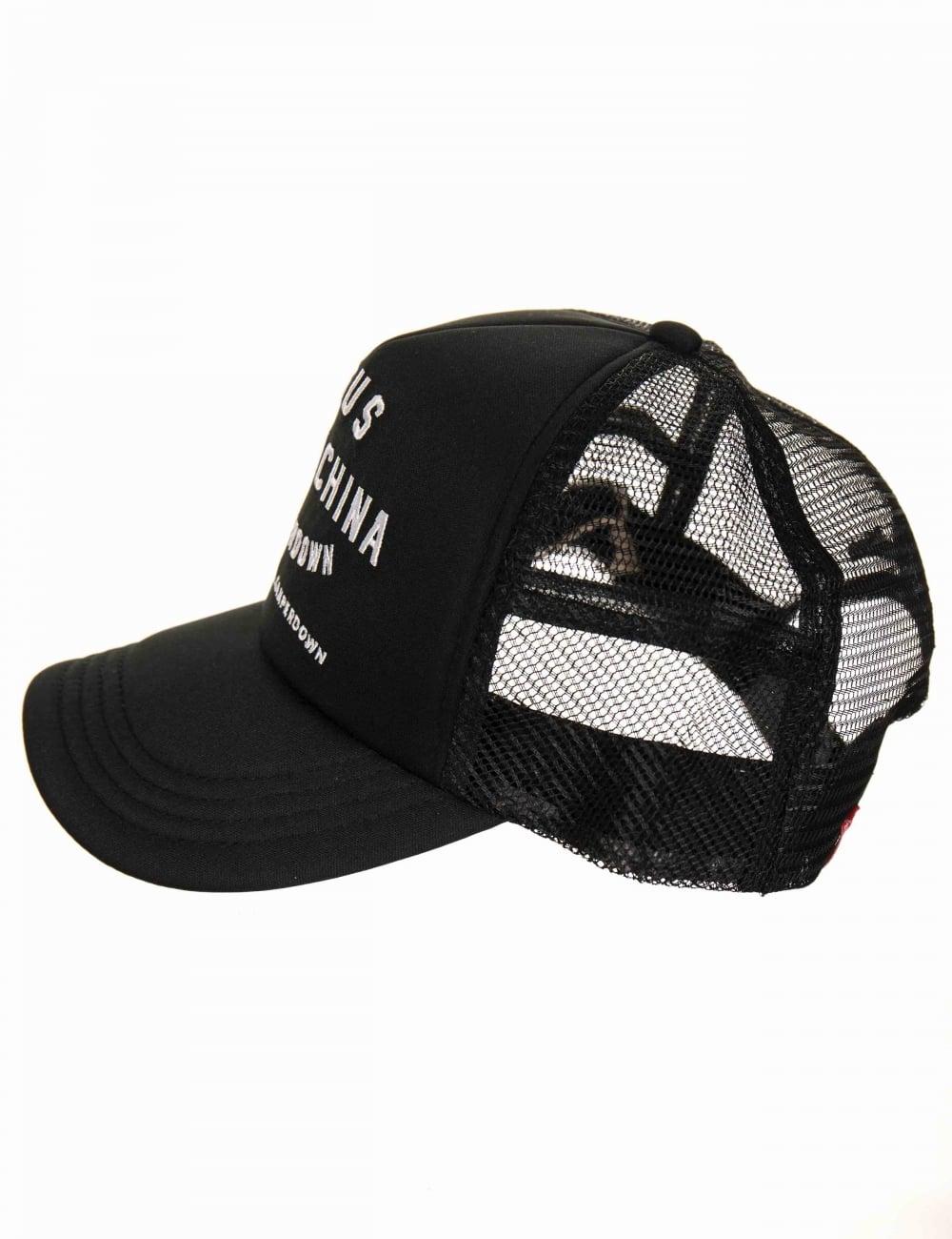 bec3fe08 Deus Ex Machina Camperdown Address Trucker Hat - Black - Accessories ...
