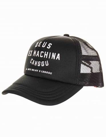 0377e34a2 Deus Ex Machina Canggu Address Trucker Hat - Black
