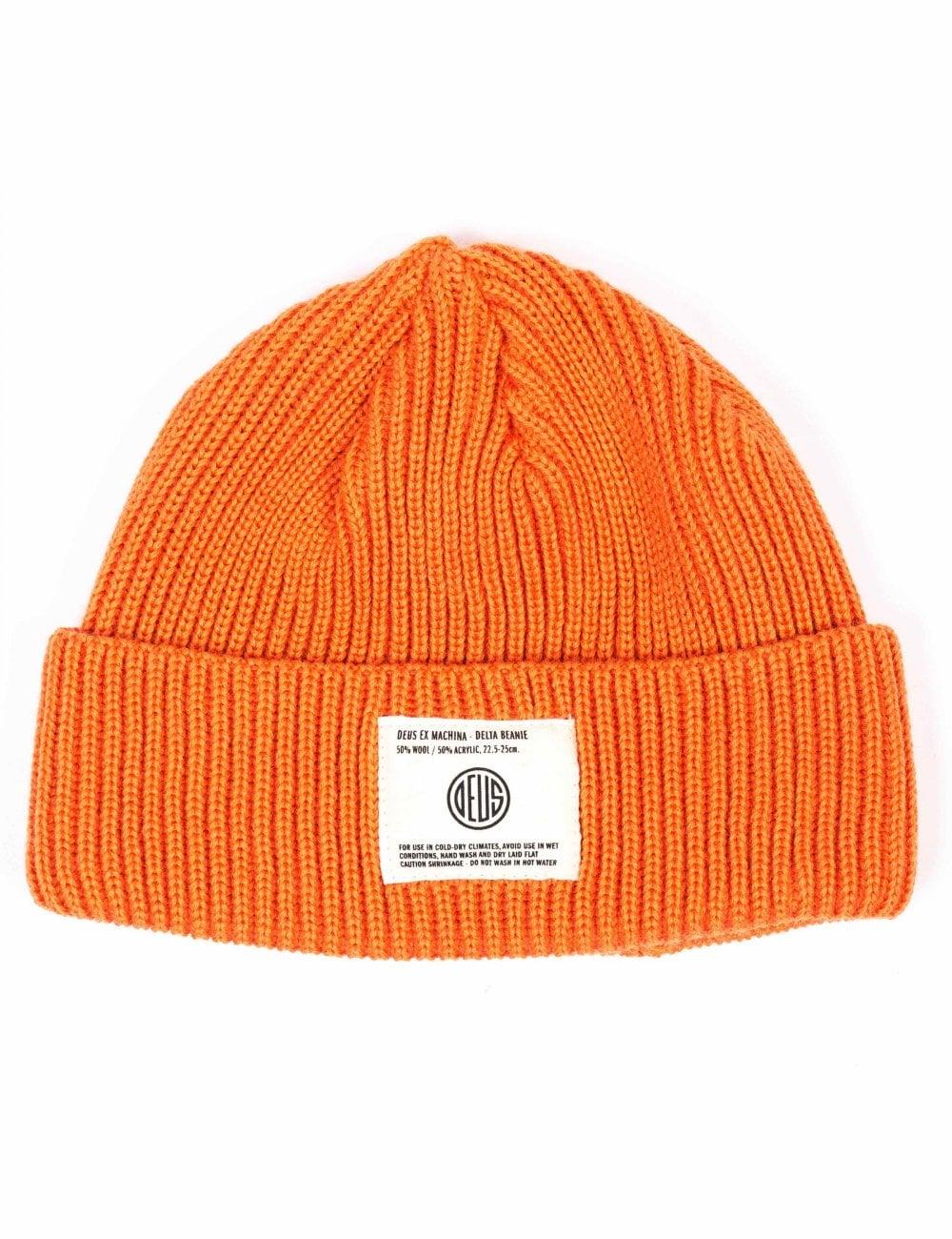 46d4a9d1699 Deus Ex Machina Delta Beanie Hat - Orange - Accessories from Fat ...