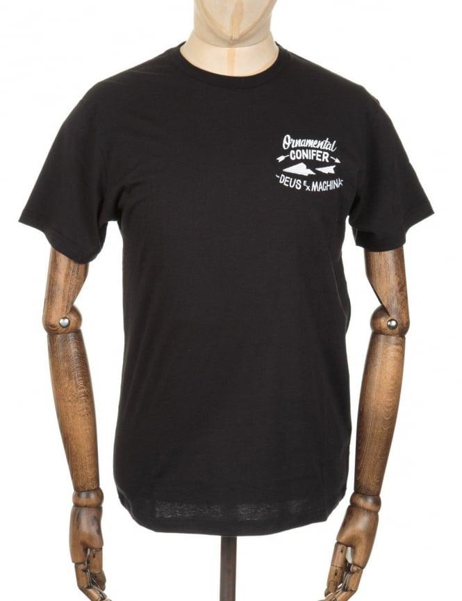 Deus Ex Machina Flight Control T-shirt - Black