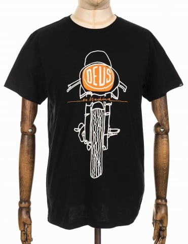 Frontal Matchless Tee - Black