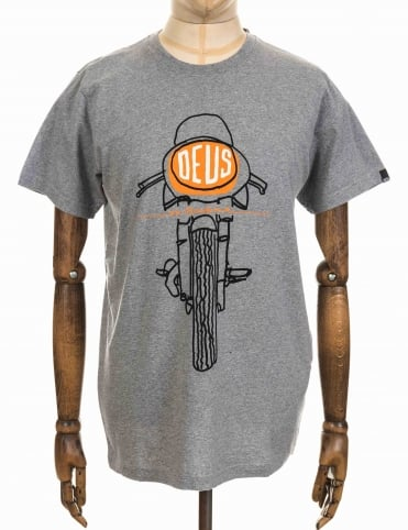 Frontal Matchless Tee - Heather Grey