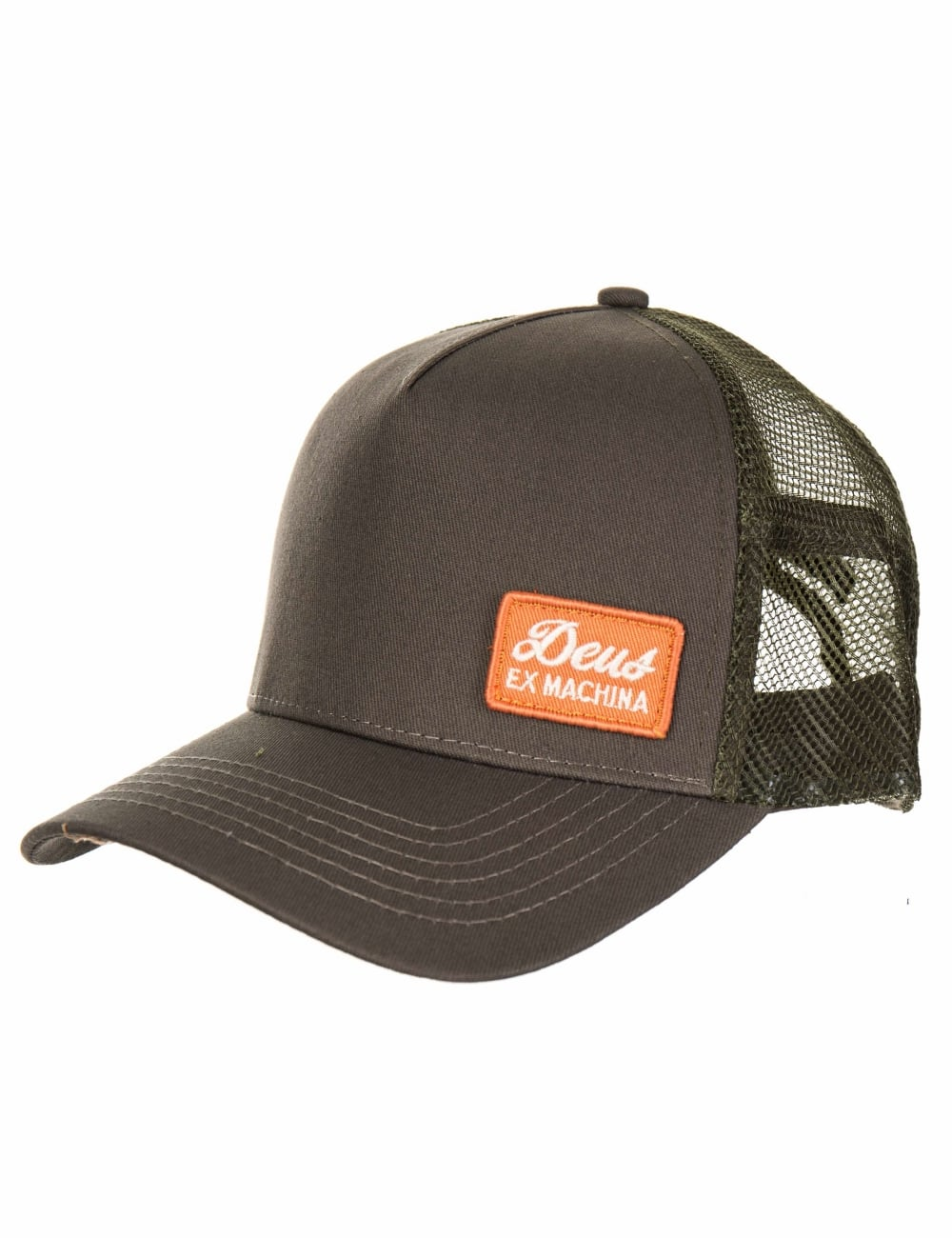 Deus Ex Machina Morgan 2 Trucker Hat - Olive - Hat Shop from Fat ... 1a4e3909648