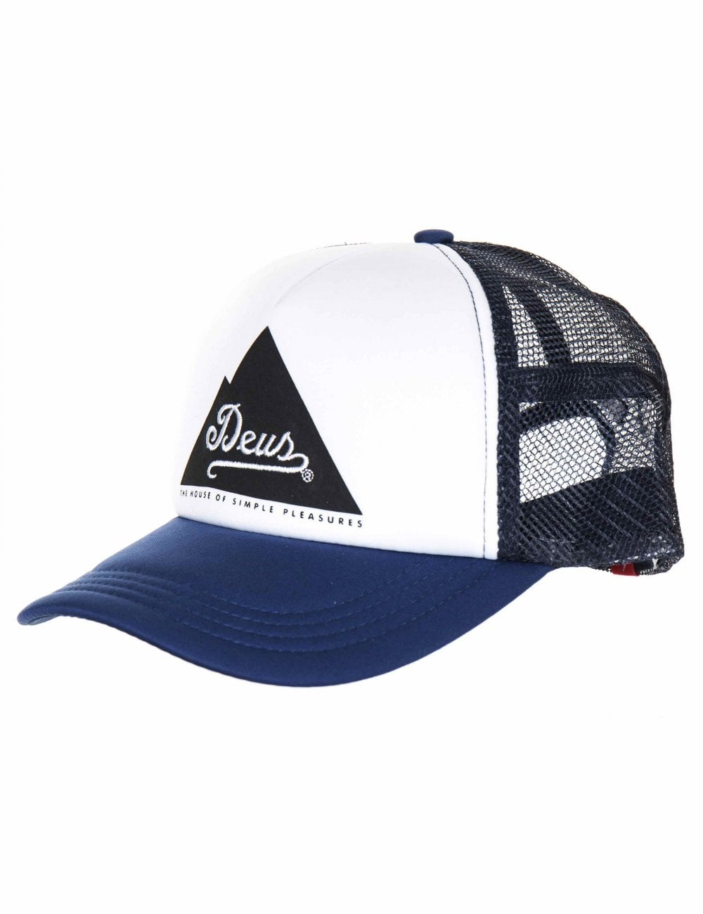 8b1d269e4870e Deus Ex Machina Peak Trucker Hat - Navy - Accessories from Fat ...