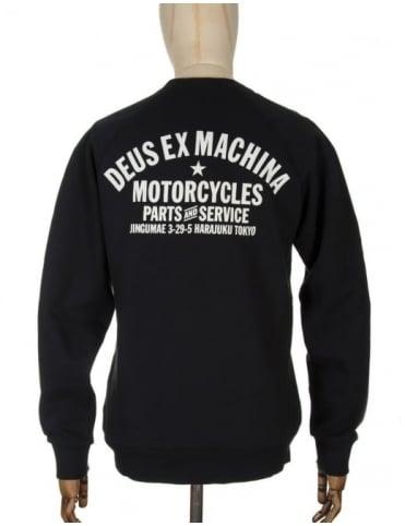Deus Ex Machina Tokyo Address Sweatshirt - Black