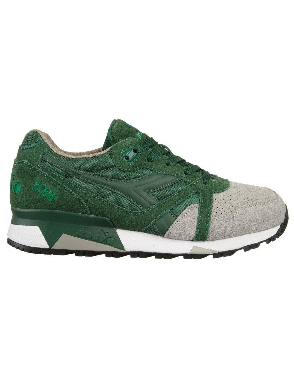 partecipazione Imitazione Auroch  Diadora N9000 Trainers - (Double Pack) Foliage Green/Paloma Grey - Footwear  from Fat Buddha Store UK