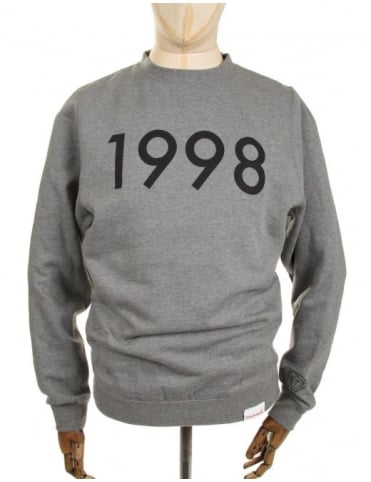 Diamond Supply Co 1998 Crewneck Sweatshirt - Heather Grey