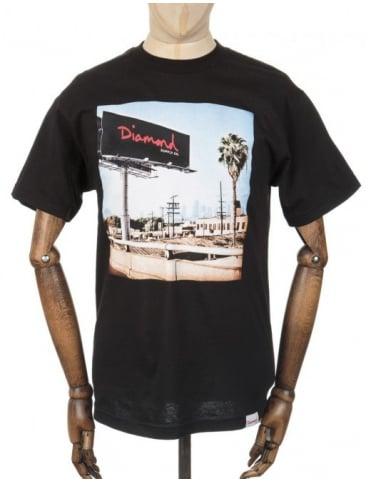 Diamond Supply Co Billboard Photo T-shirt - Black