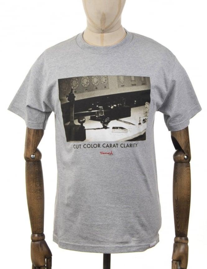Diamond Supply Co CCC T-Shirt - Heather Grey