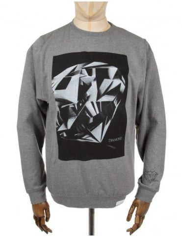 Diamond Supply Co Diamond Cut Crewneck Sweatshirt - Heather Grey
