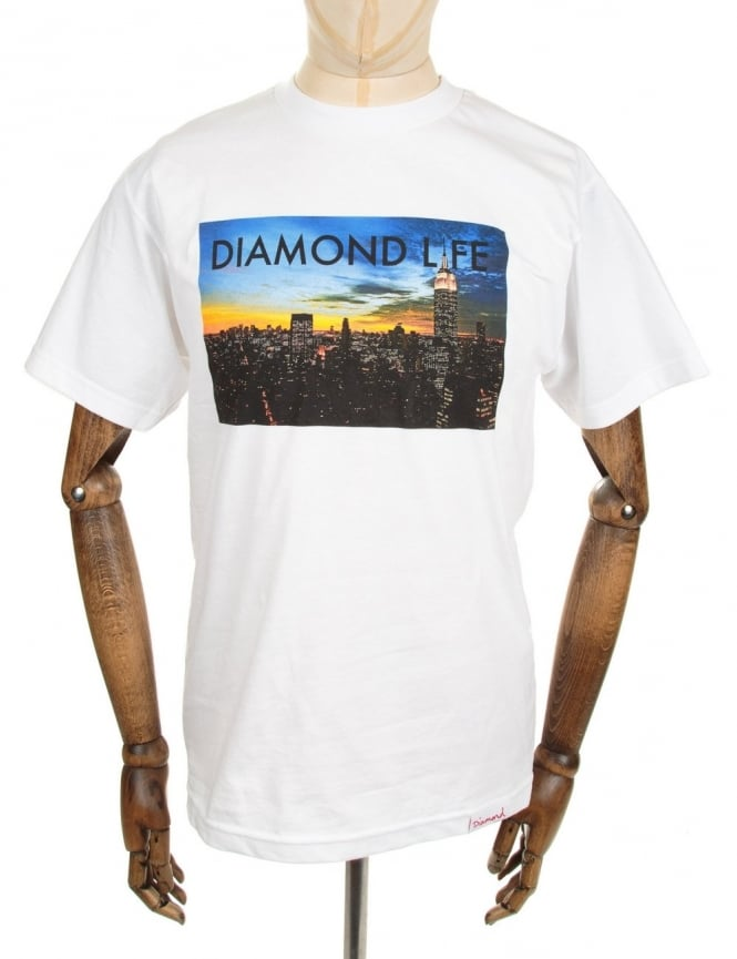 Diamond Supply Co Diamond Life NY Tee - White