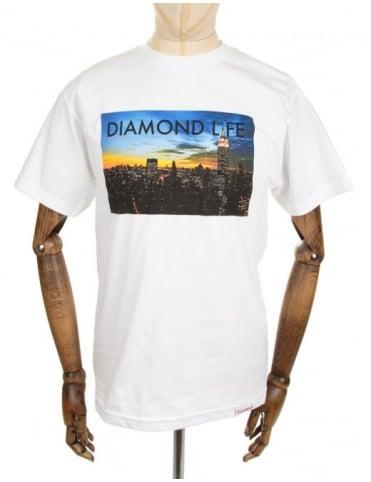Diamond Supply Co Diamond Life NY Tee - White