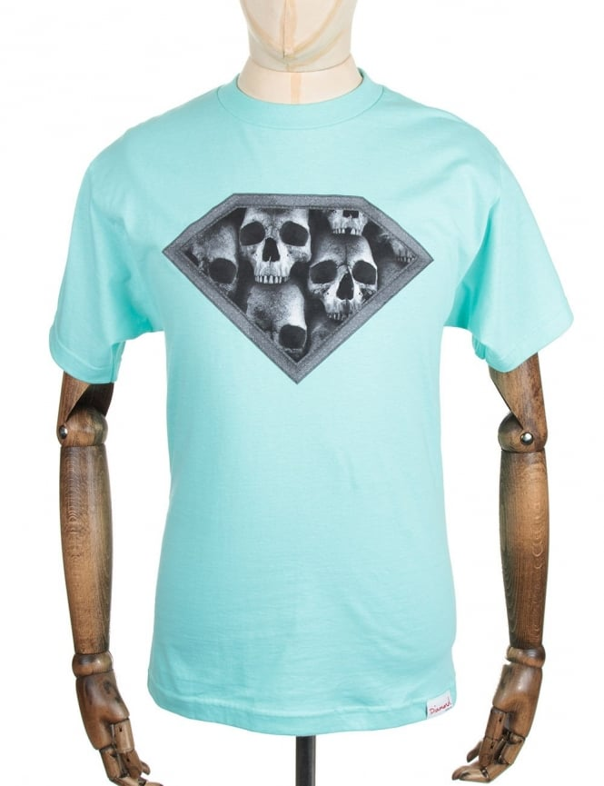 Diamond Supply Co Diamond Skulls Tee - Diamond Blue