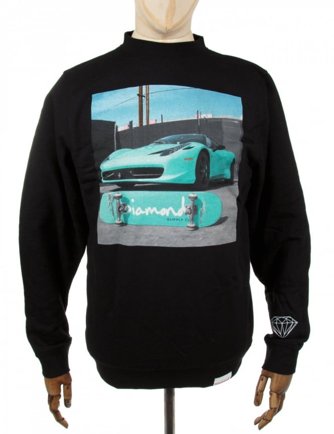 Diamond Supply Co Ferrari Crewneck Sweatshirt - Black