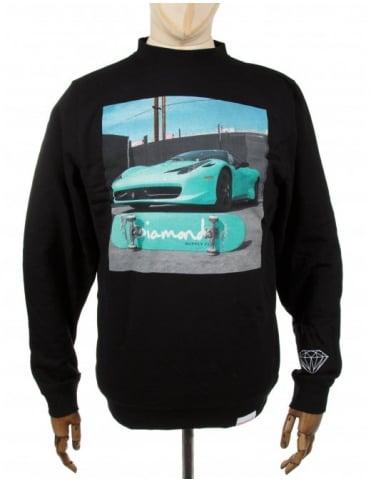 Diamond Supply Co Ferrari Crewneck Sweatshirt - Black