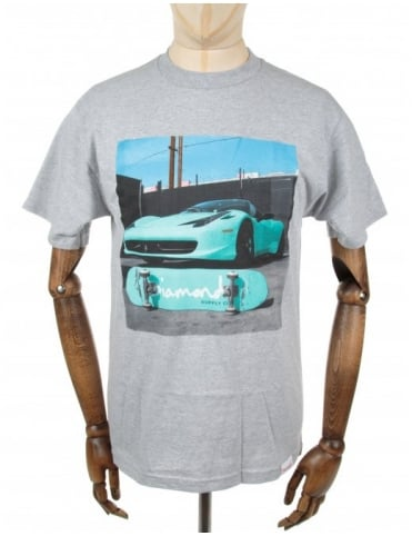 Diamond Supply Co Ferrari Tee - Heather Grey