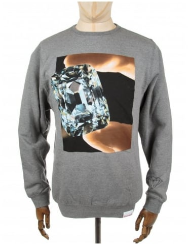 Diamond Supply Co Gem Crewneck Sweatshirt - Grey
