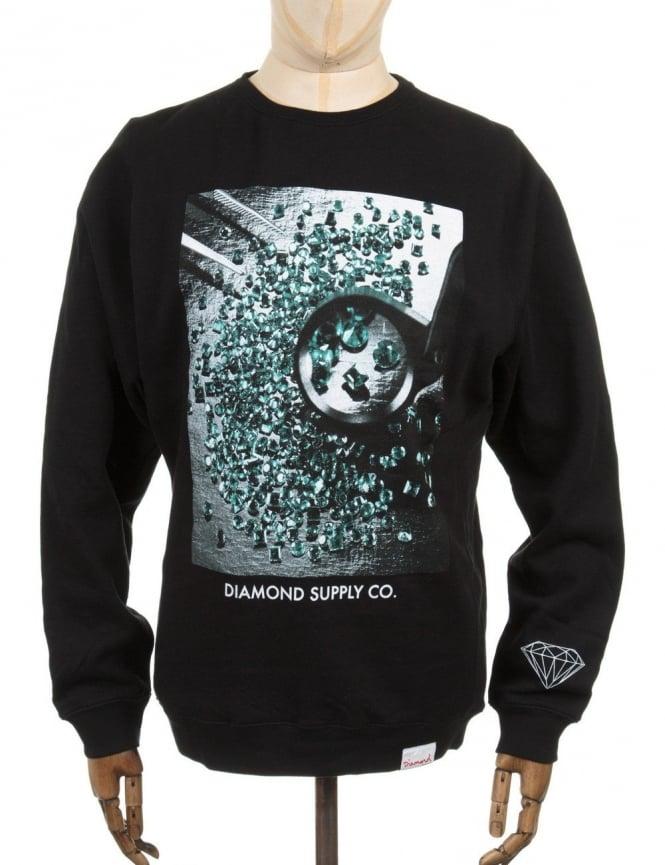 Diamond Supply Co Gem Quality Photo Sweatshirt - Black